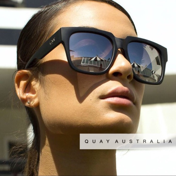 bf0a2c2d4c QUAY Midnight Runner Square Sunglasses NWT